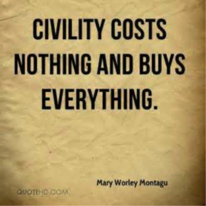Civility cost nothing